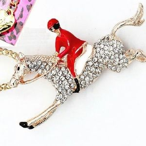 BETSEY JOHNSON~ Equestrian Racer Necklace